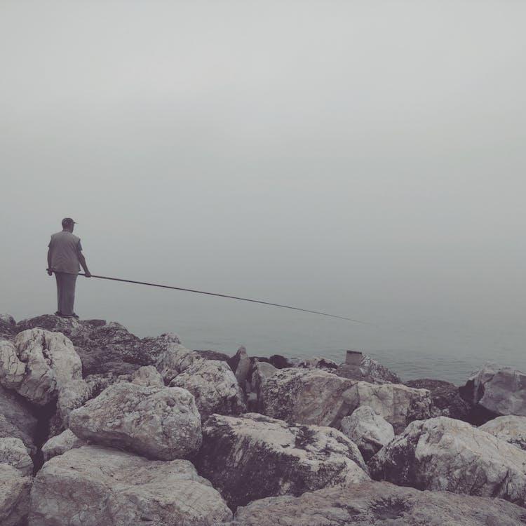 Free stock photo of fishing, fog, foggy