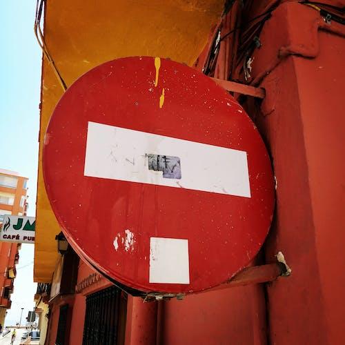 Free stock photo of grunge, orange, red, sign