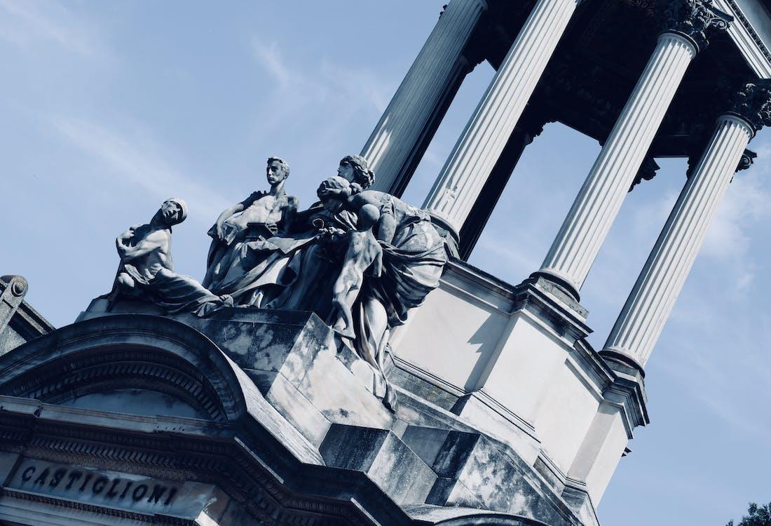 ánh sáng ban ngày, bức tượng, kiến trúc