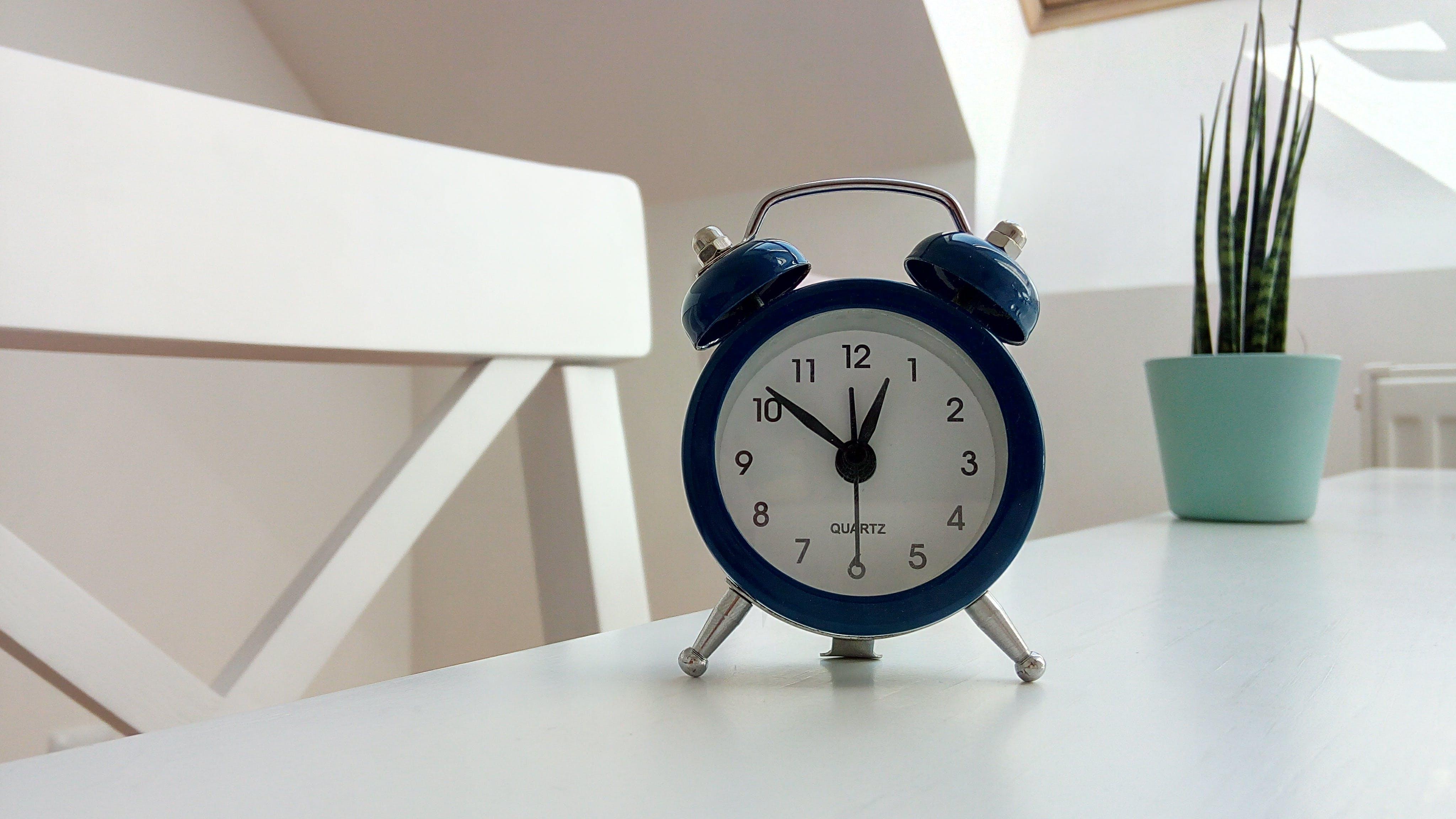 Round Black Alarm Clock