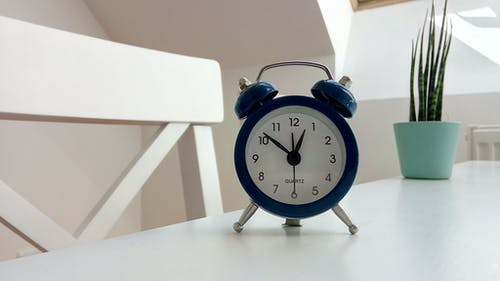 Round Black Alarm Clock