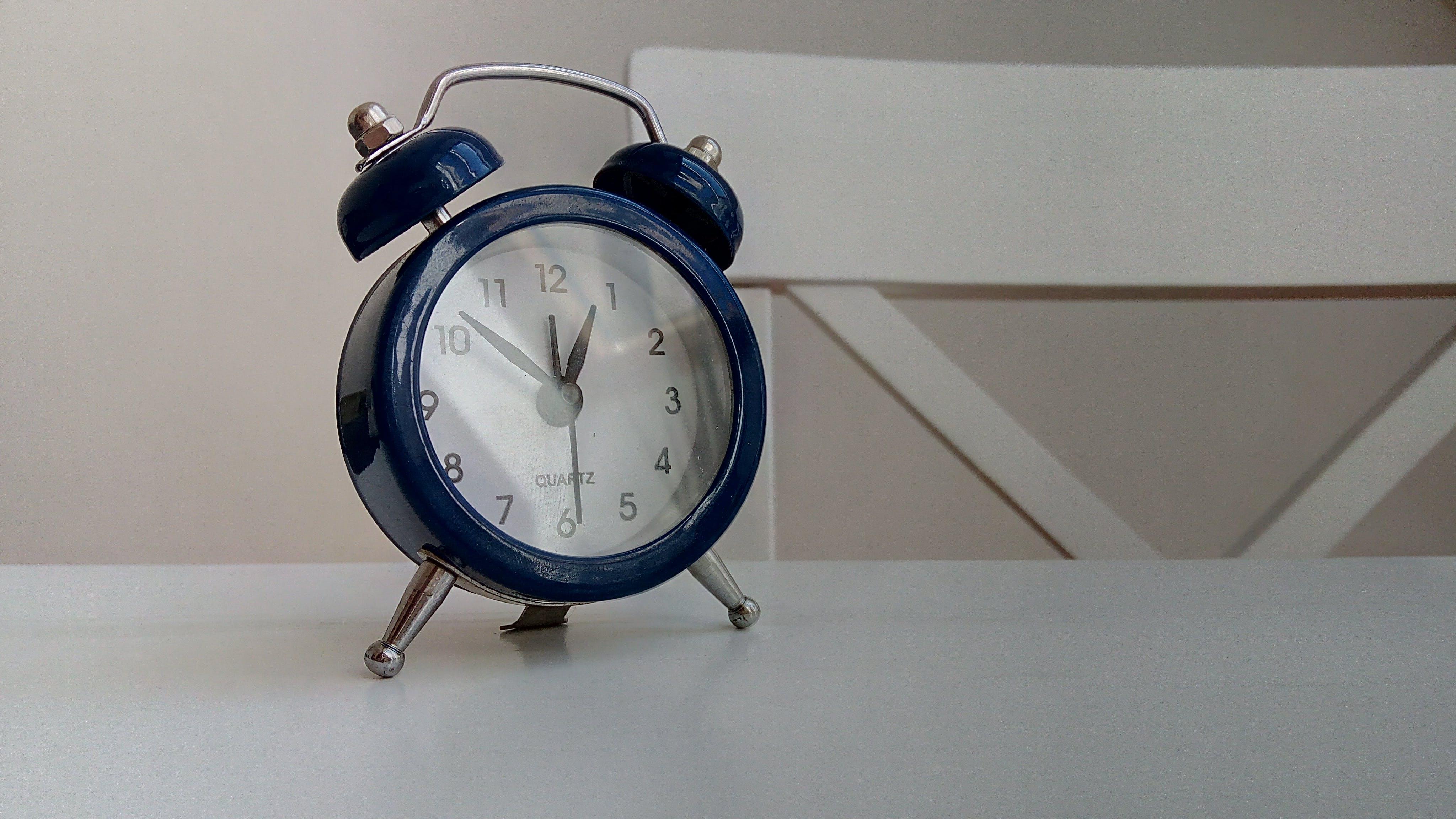 Free stock photo of alarm clock, business, clock, light reflections