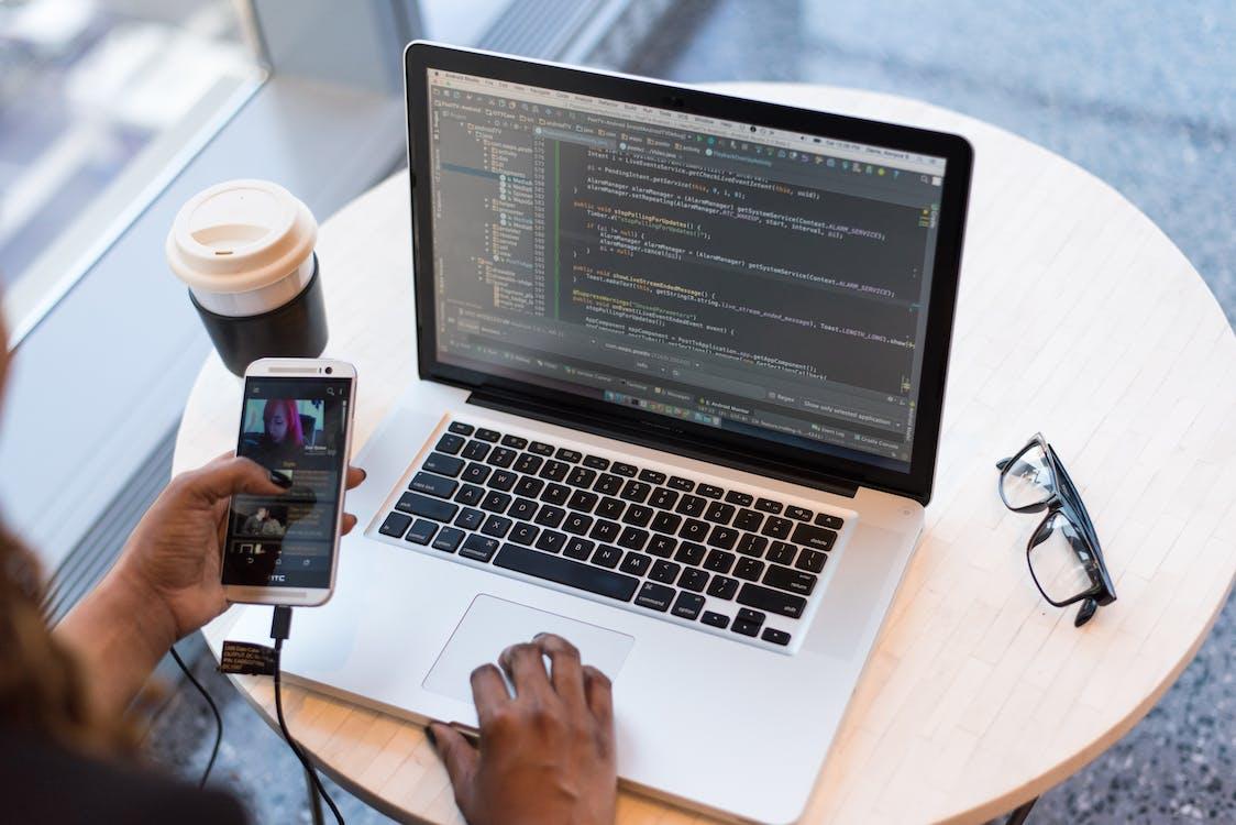 arbetsplats, bärbar, bärbar dator