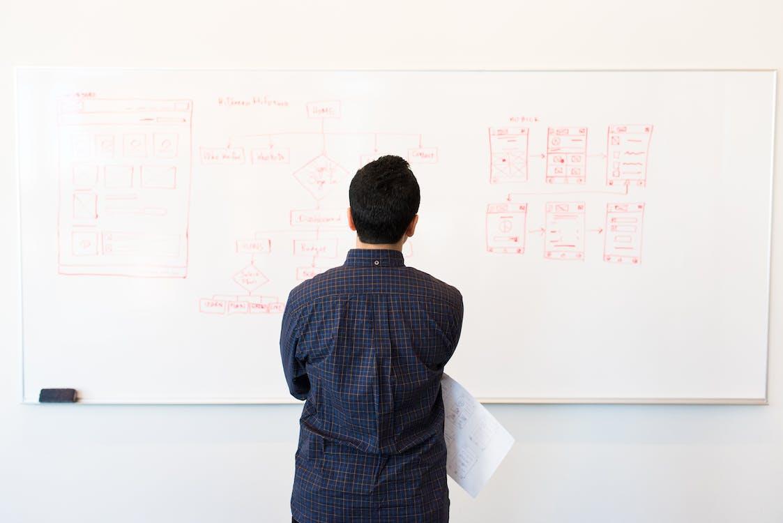 arbejde, data, flowdiagram