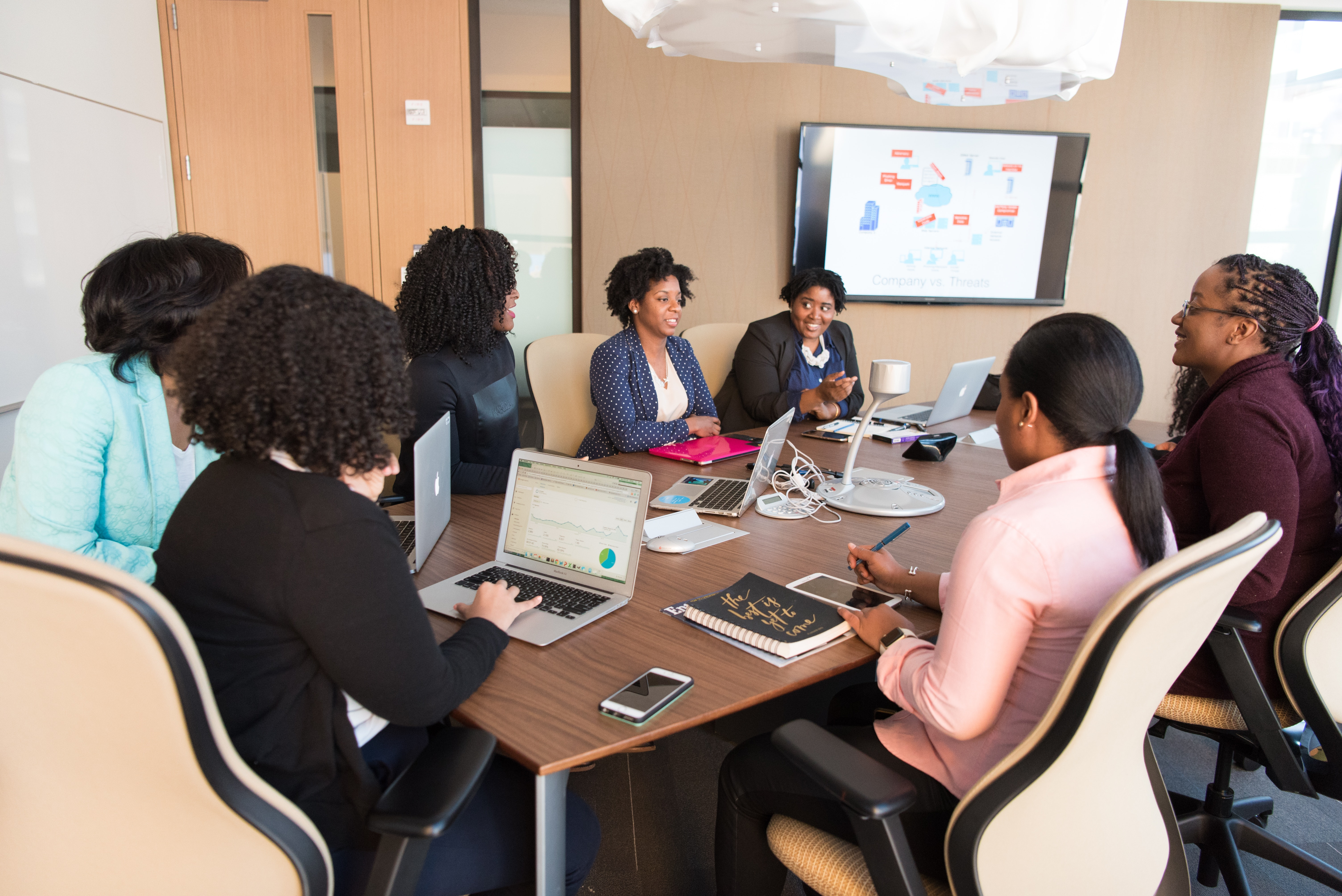 Four Woman At The Conference Room 183 Free Stock Photo