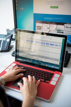 turned on laptop computer free stock photo