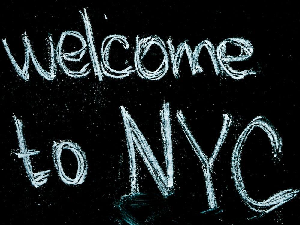nyc, กระดานดำ, ข้อความ