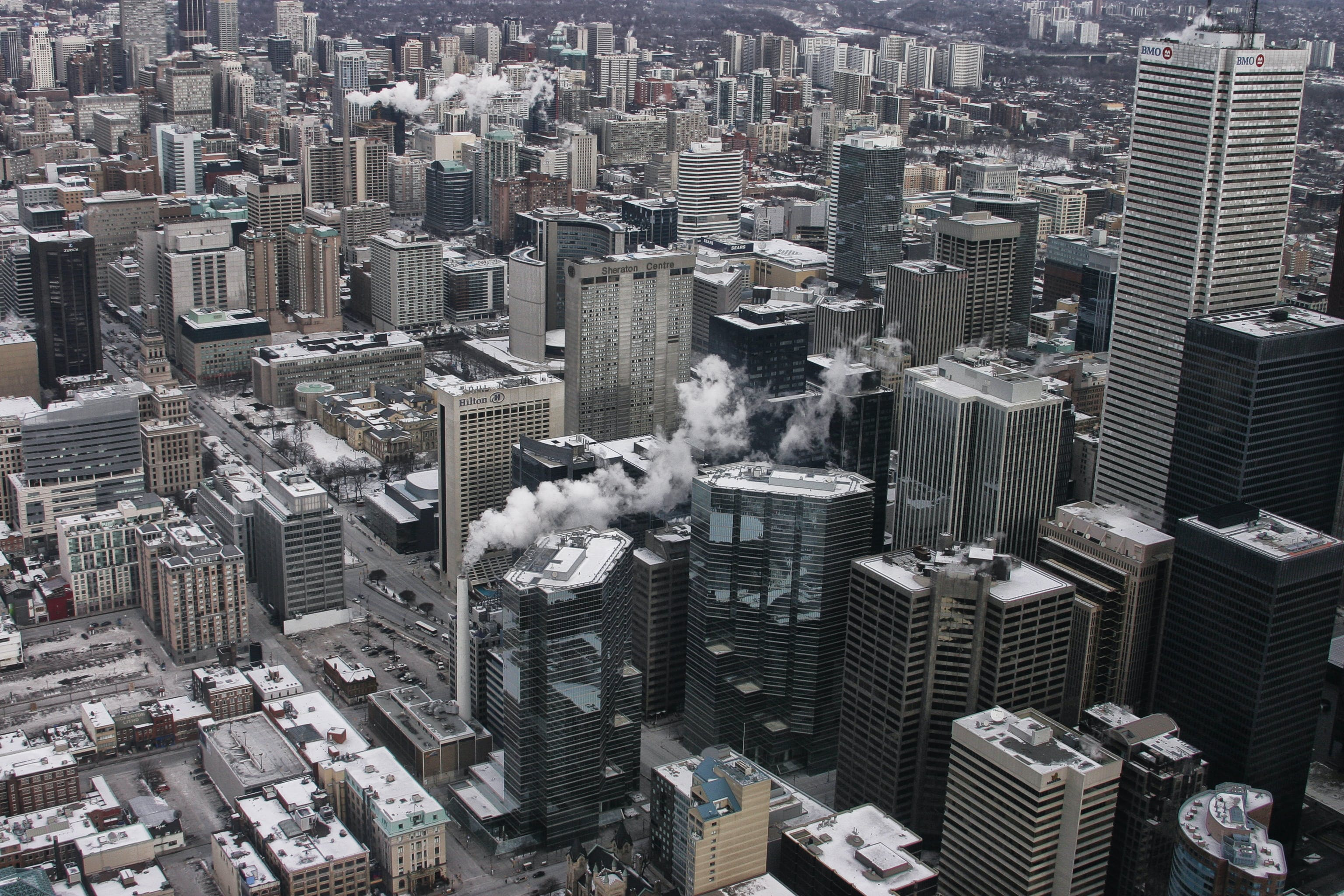 Free stock photo of aerial shot, buildings, city, skyscrapers