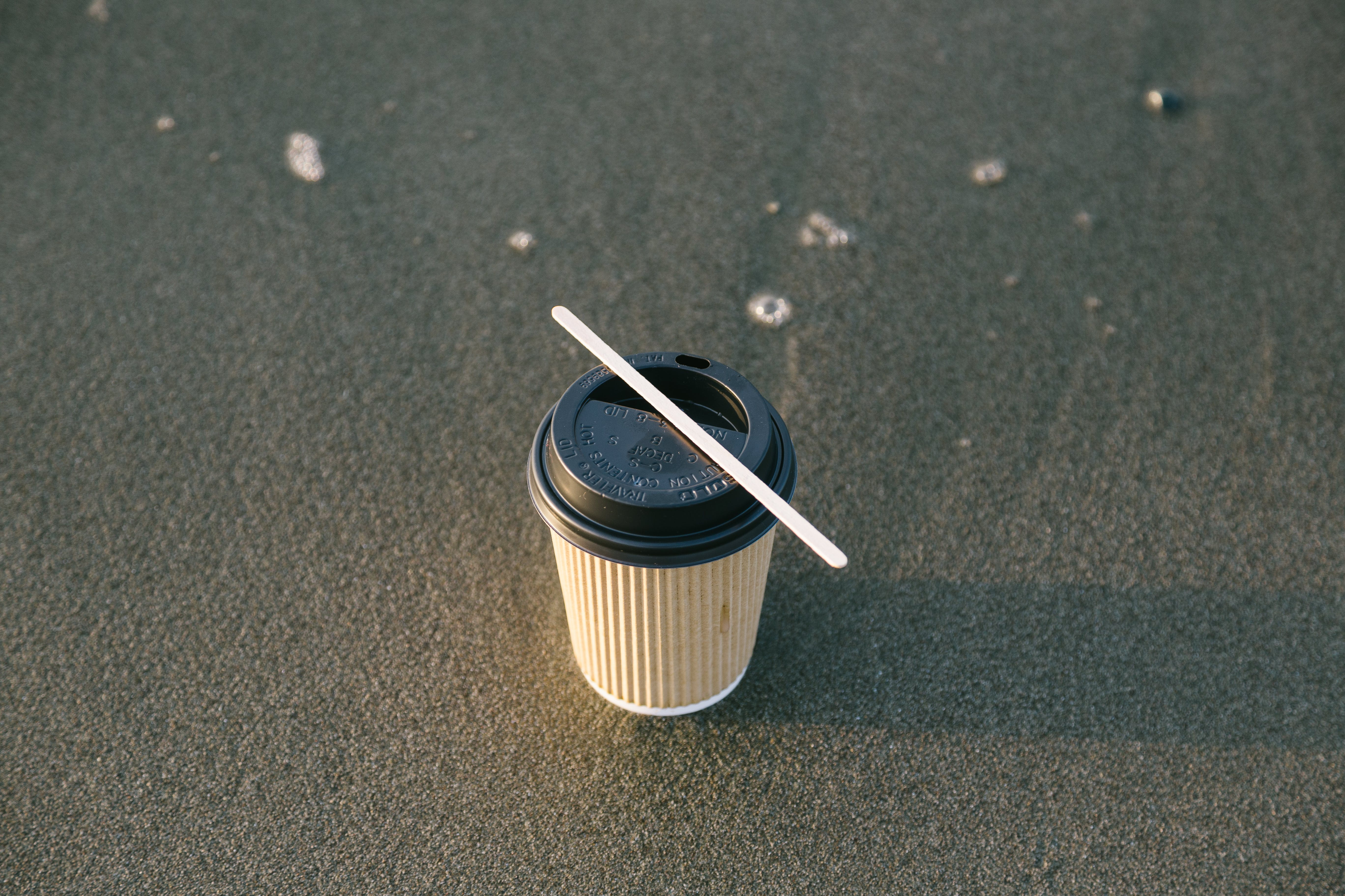 Black and Brown Paper Cup