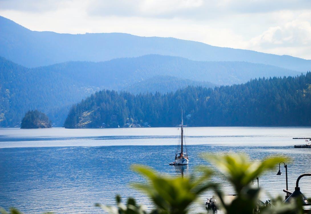 biển, màu xanh da trời, nắng