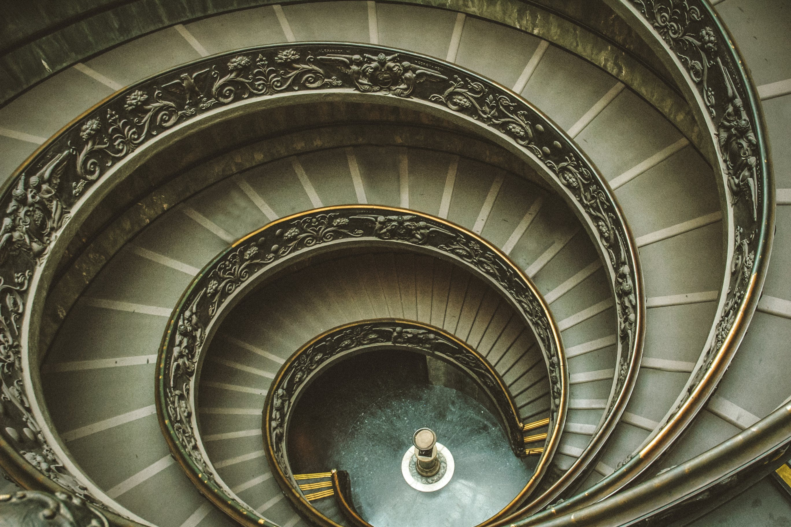 Gray Spiral Stairs