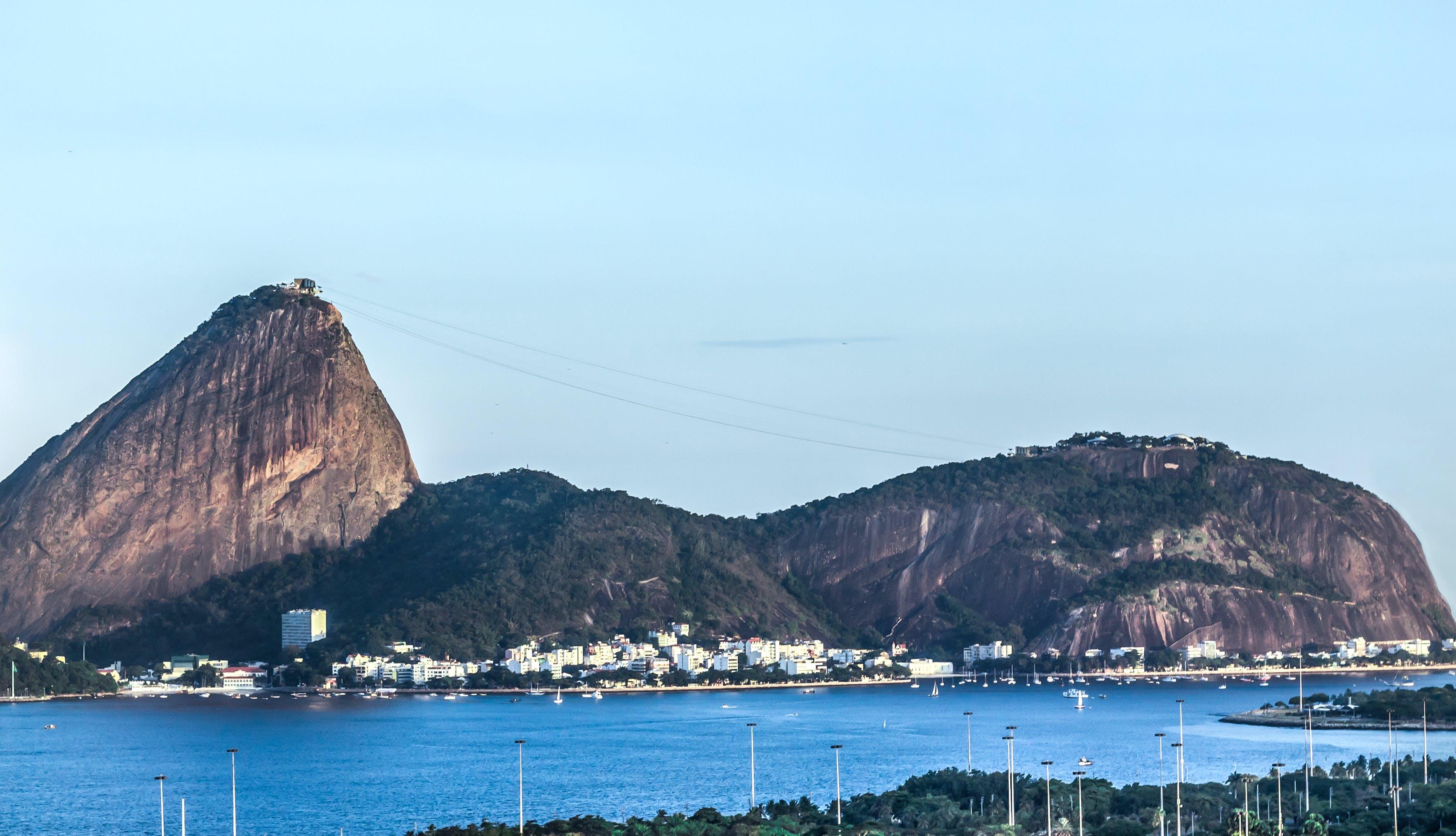 of hill, landscape, rio de janeiro, urca