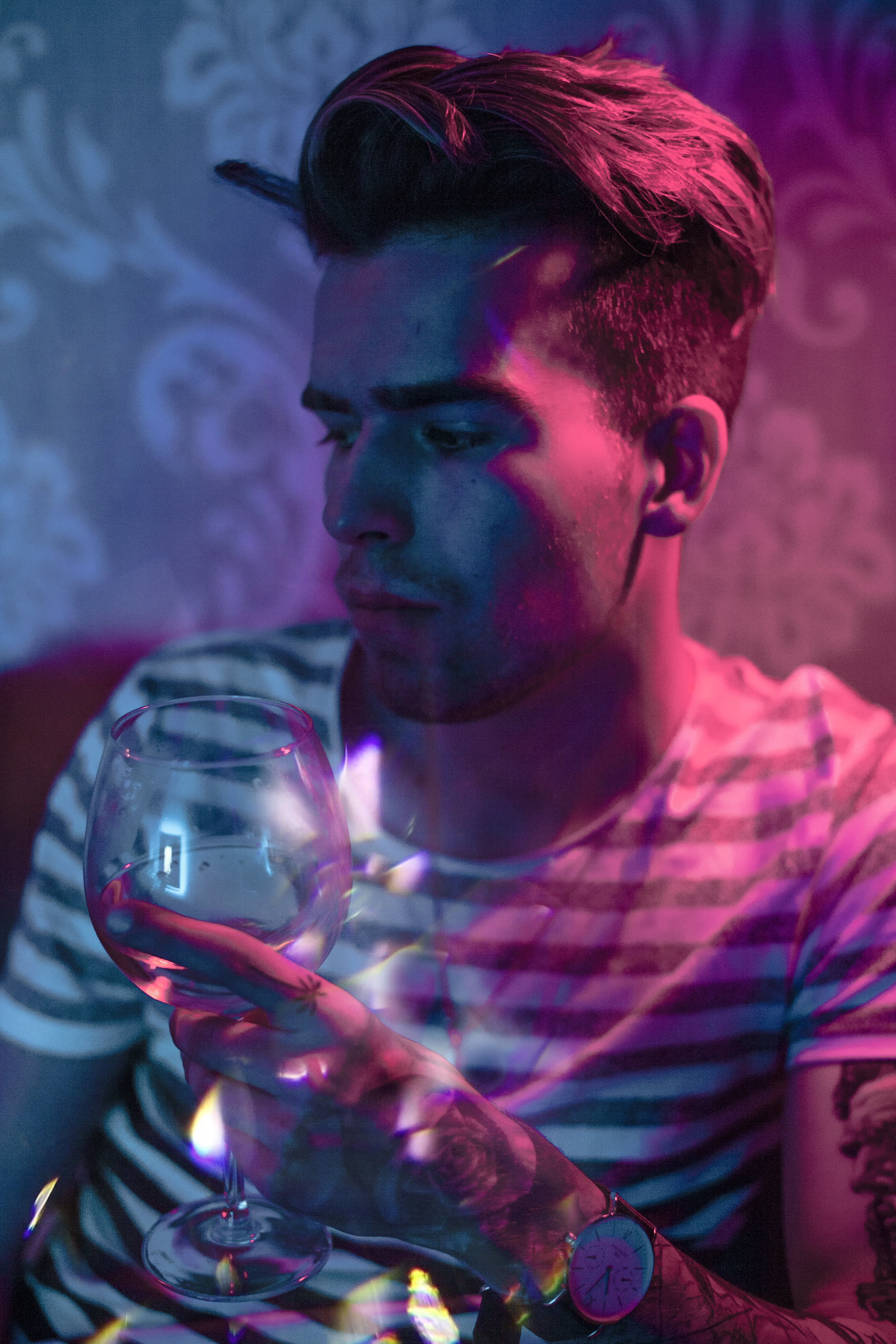 Photography of Man Holding Wine Glass