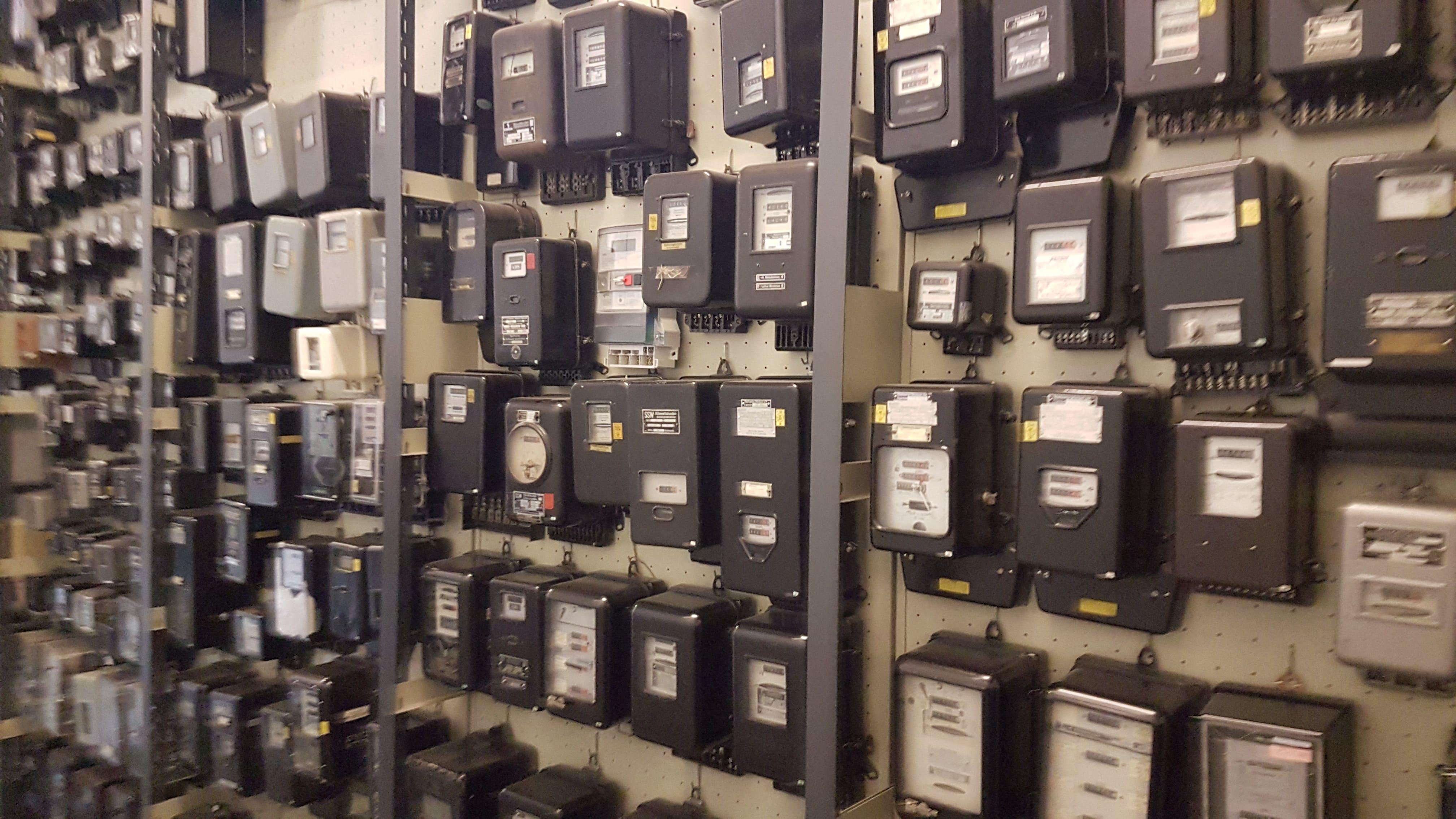Free stock photo of Electricity meters, Energy meters, KwH meters