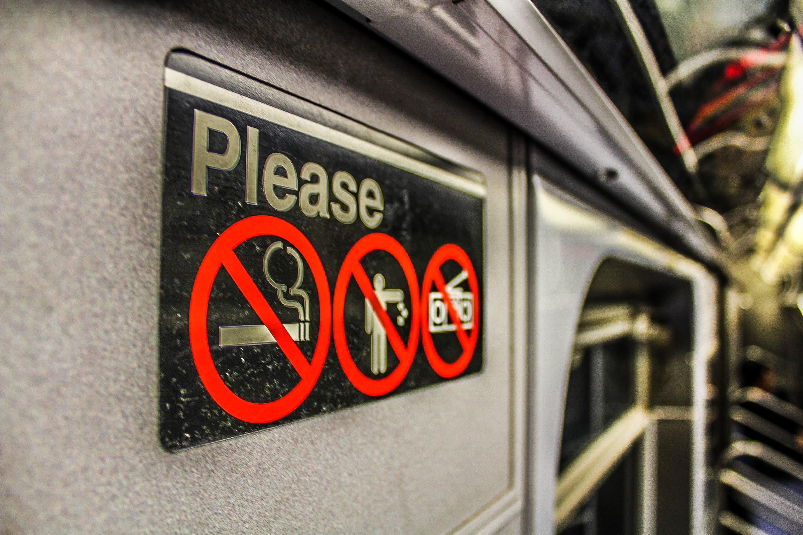 disallowed, forbidden, no smoking
