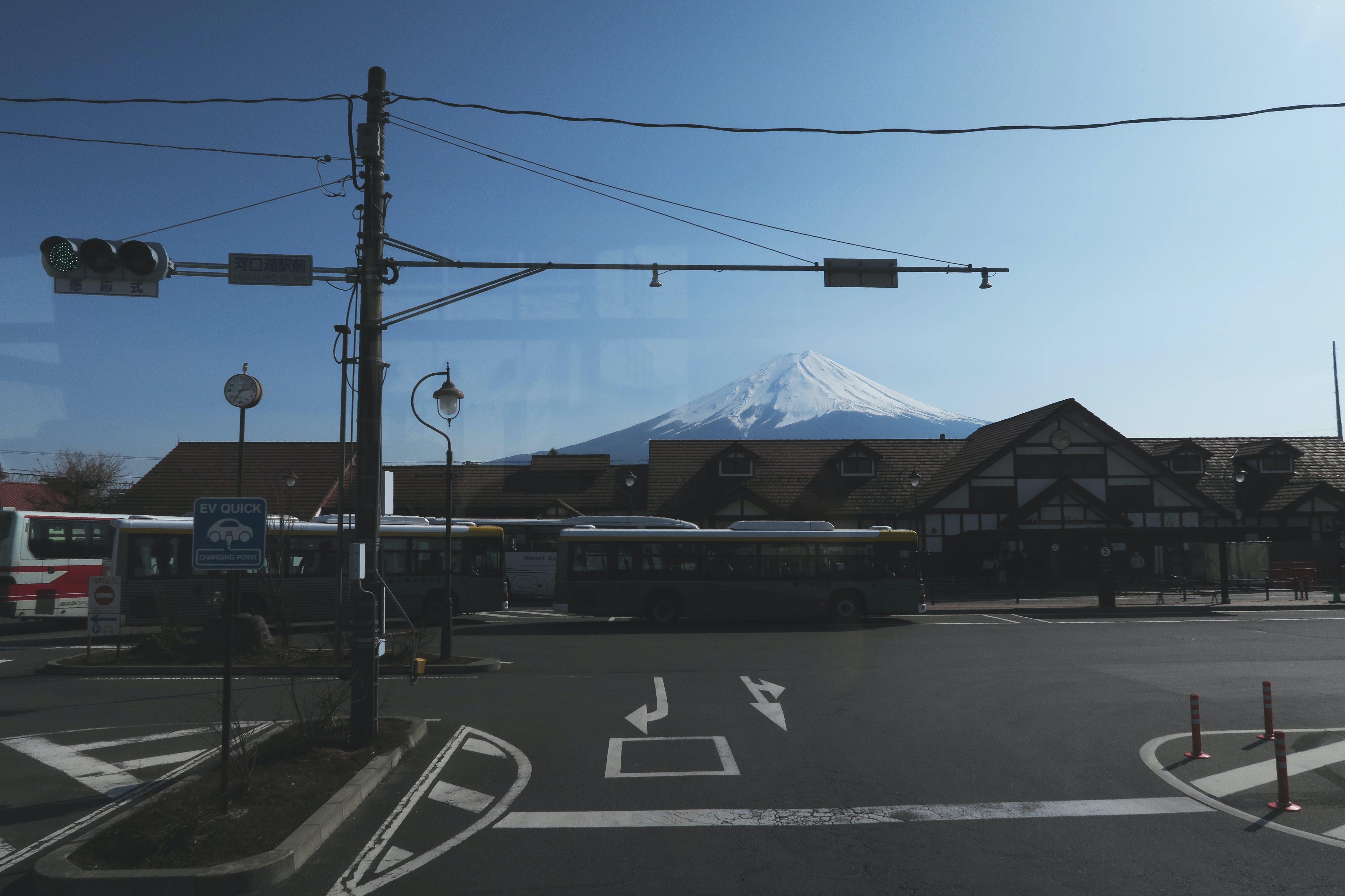 Free stock photo of bus stop, fuji, japan