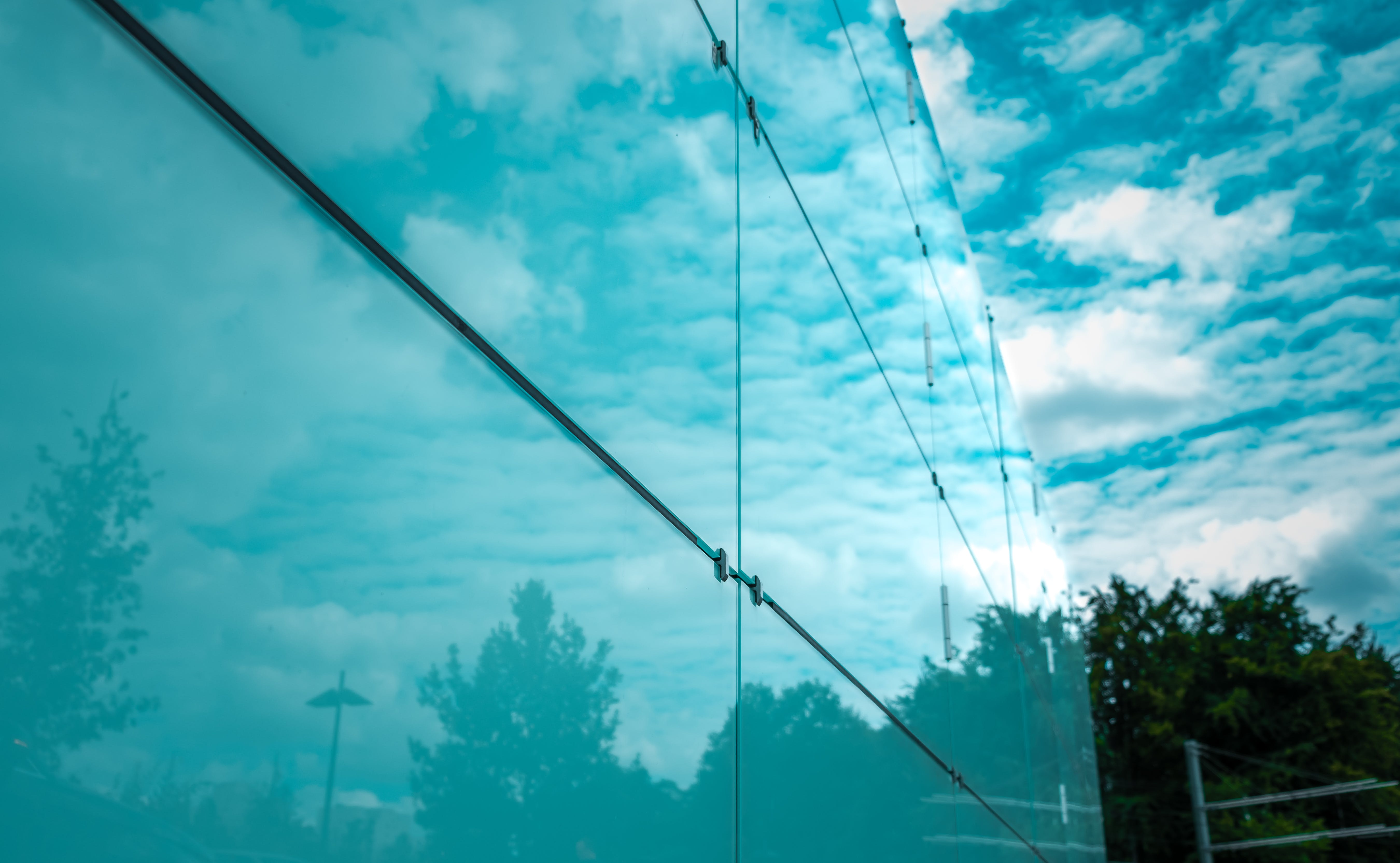 Free stock photo of trees, abstract, lines, blue sky