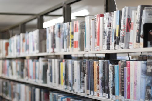 alan derinliği, Edebiyat, kitap dükkanı, kitap rafları içeren Ücretsiz stok fotoğraf
