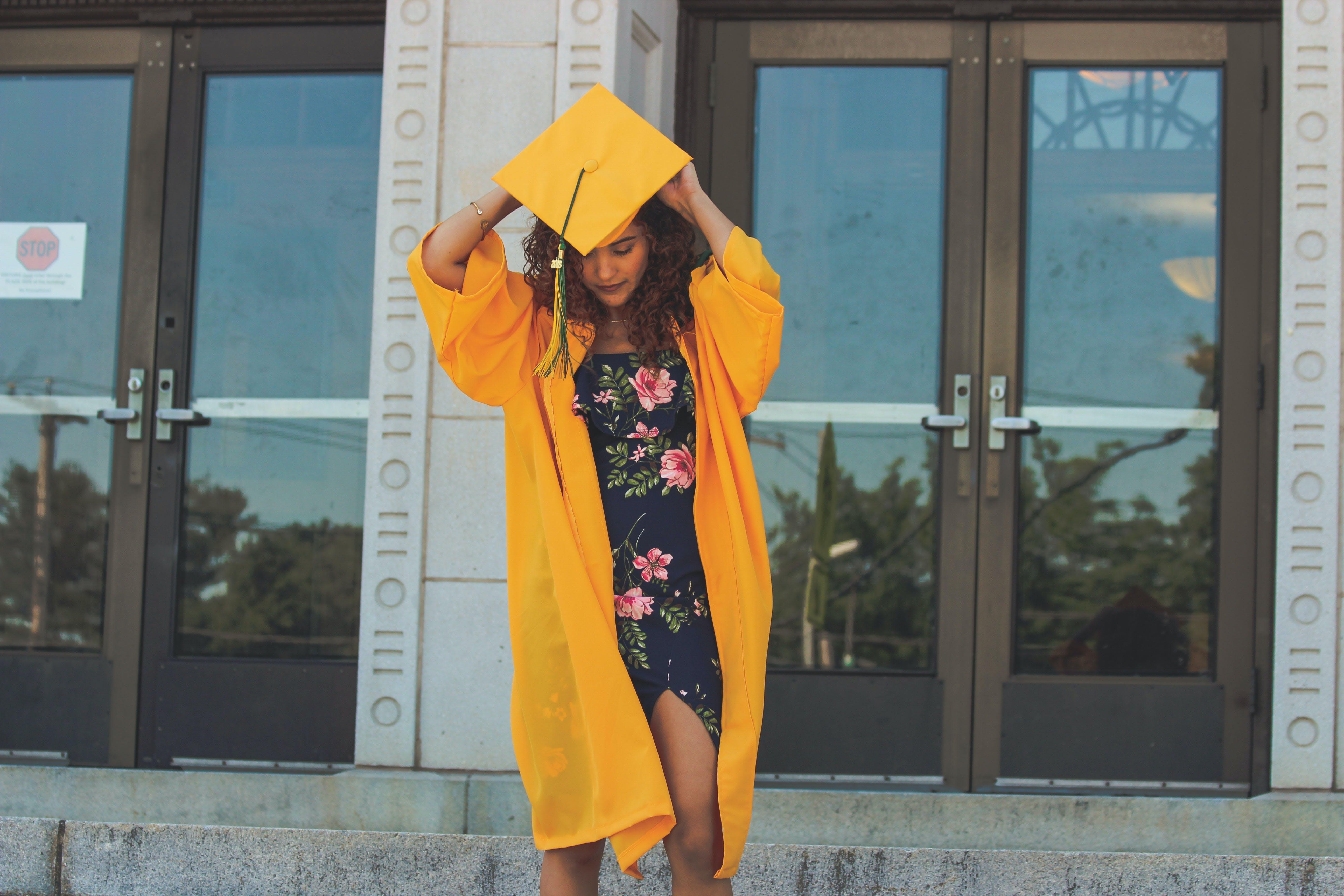 Woman Wearing Academic Dress