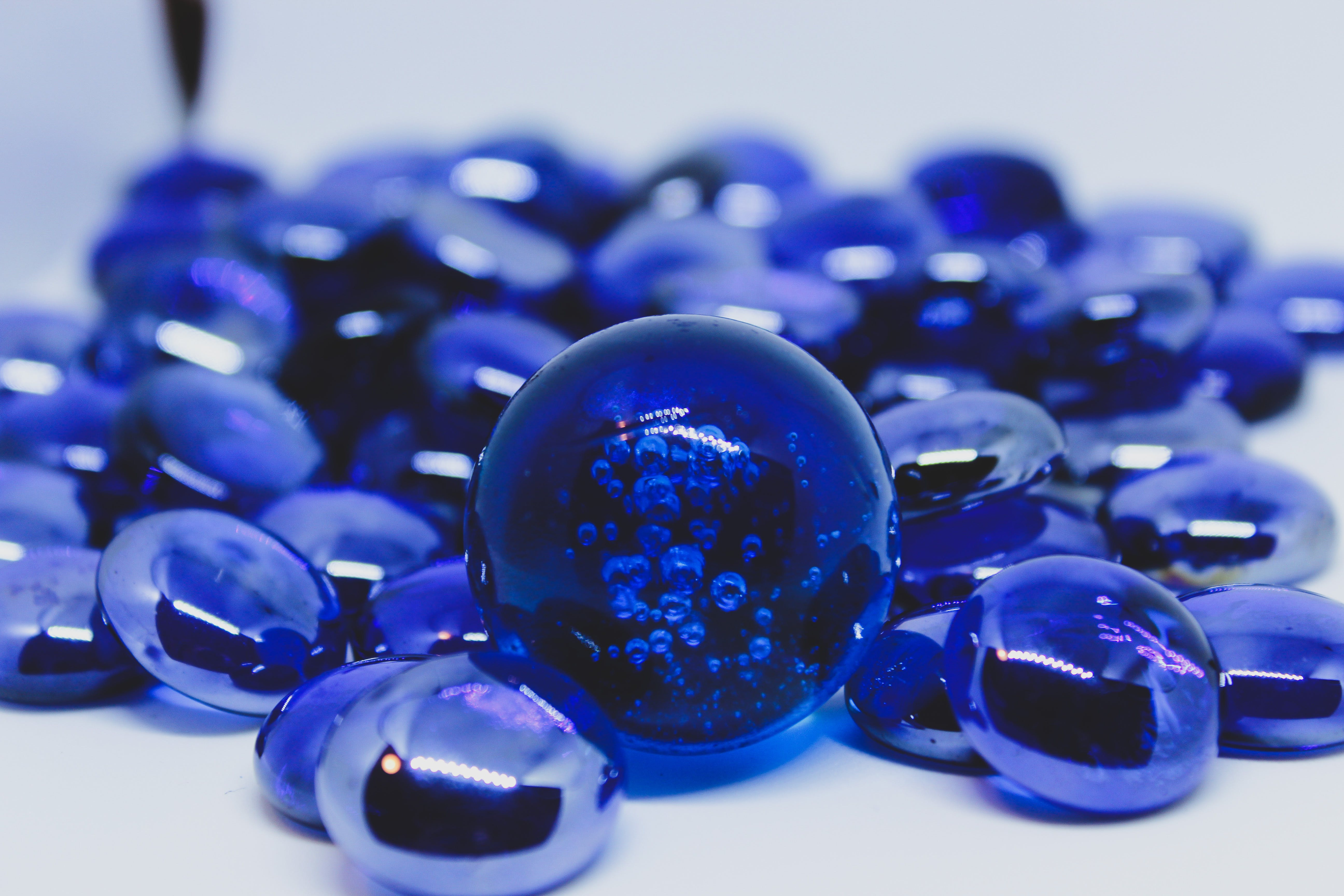 Free stock photo of #blue marbles