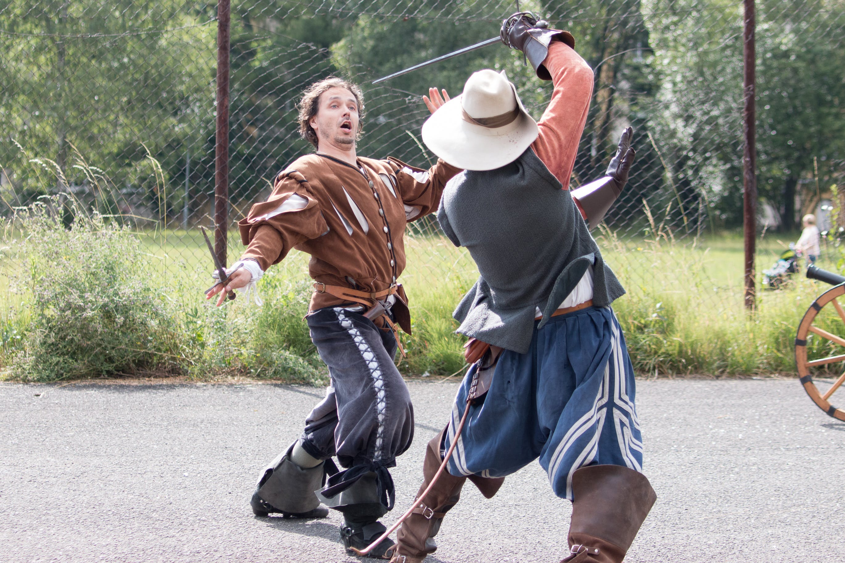 Free stock photo of swordplay