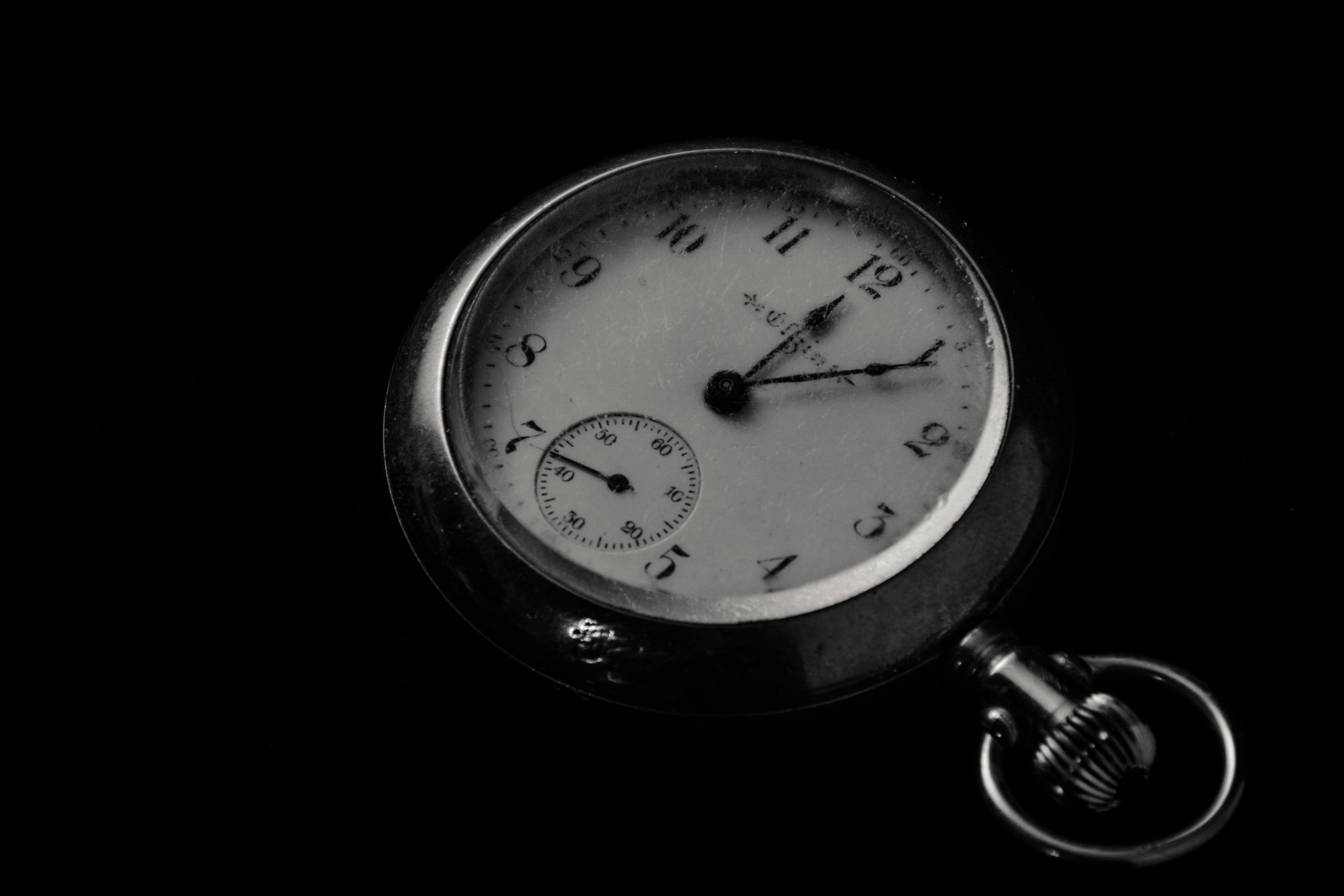Round Pocket Watch at 12:05