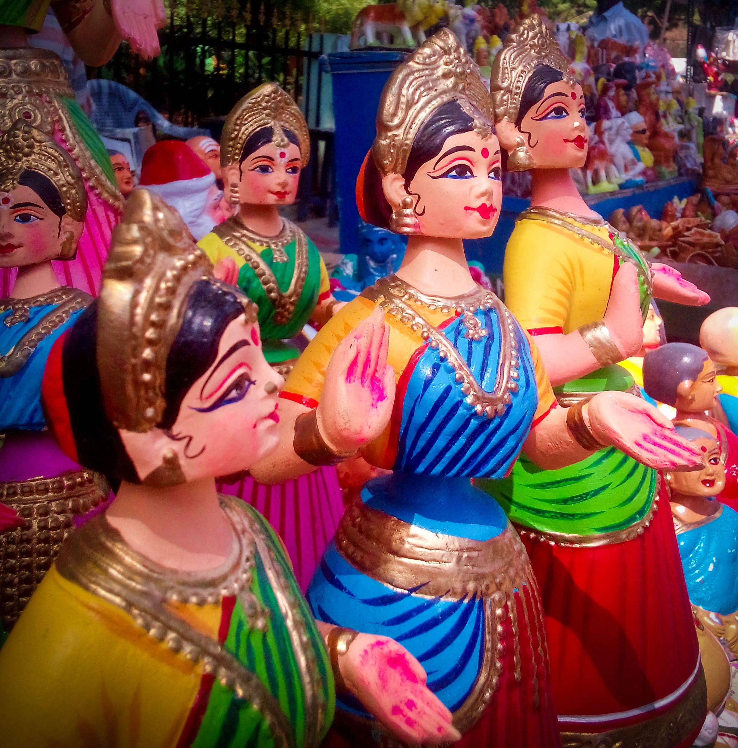 Free stock photo of doll, handmade, thanjavur doll, thanjavur thalaiyaati bommai