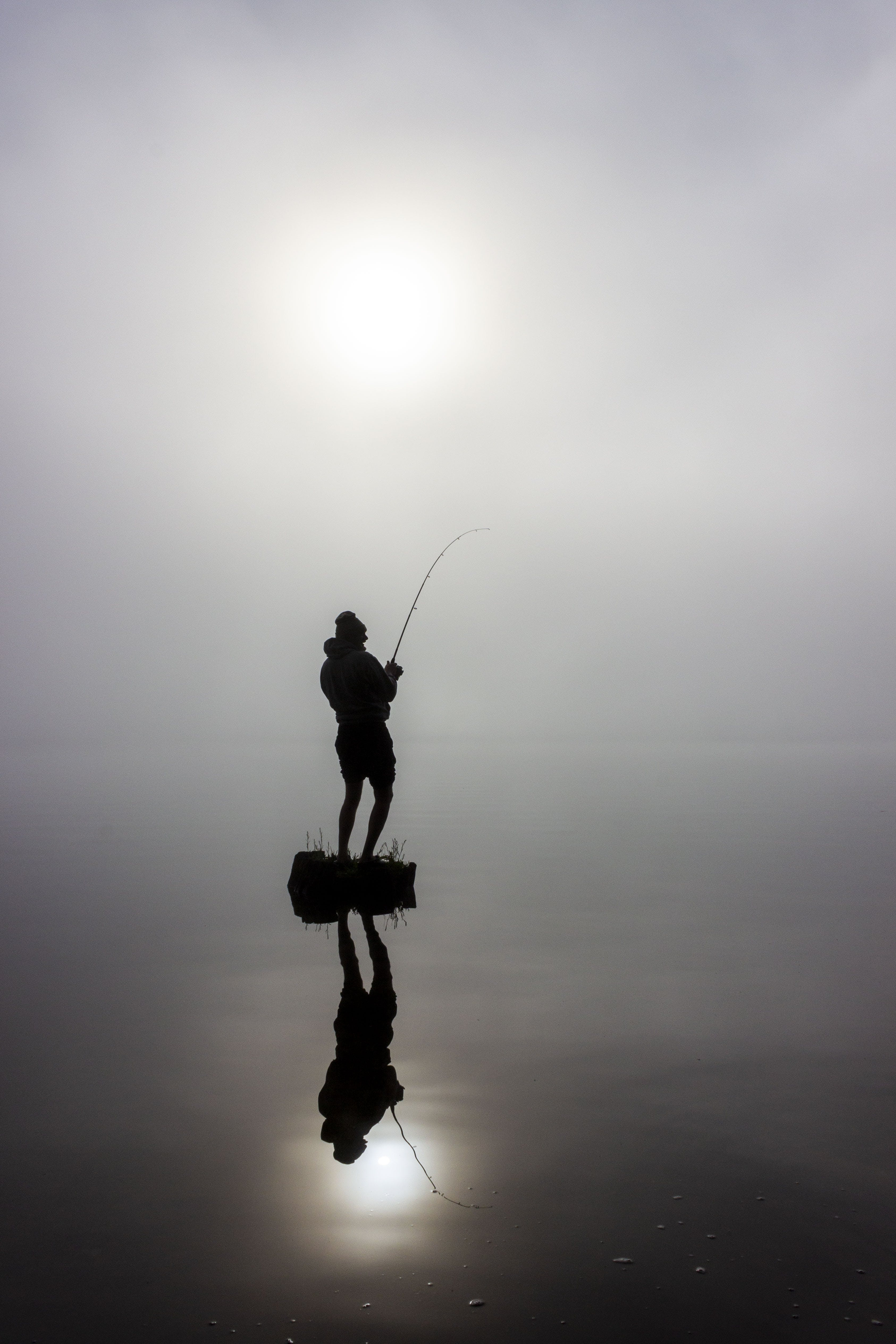 Free stock photo of fishing, fog, haze, water