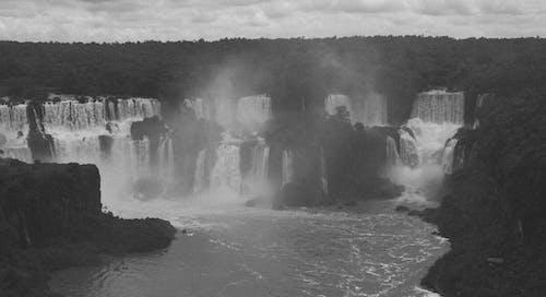 preto e branco, p&b, sevem, whaterfal 的 免費圖庫相片
