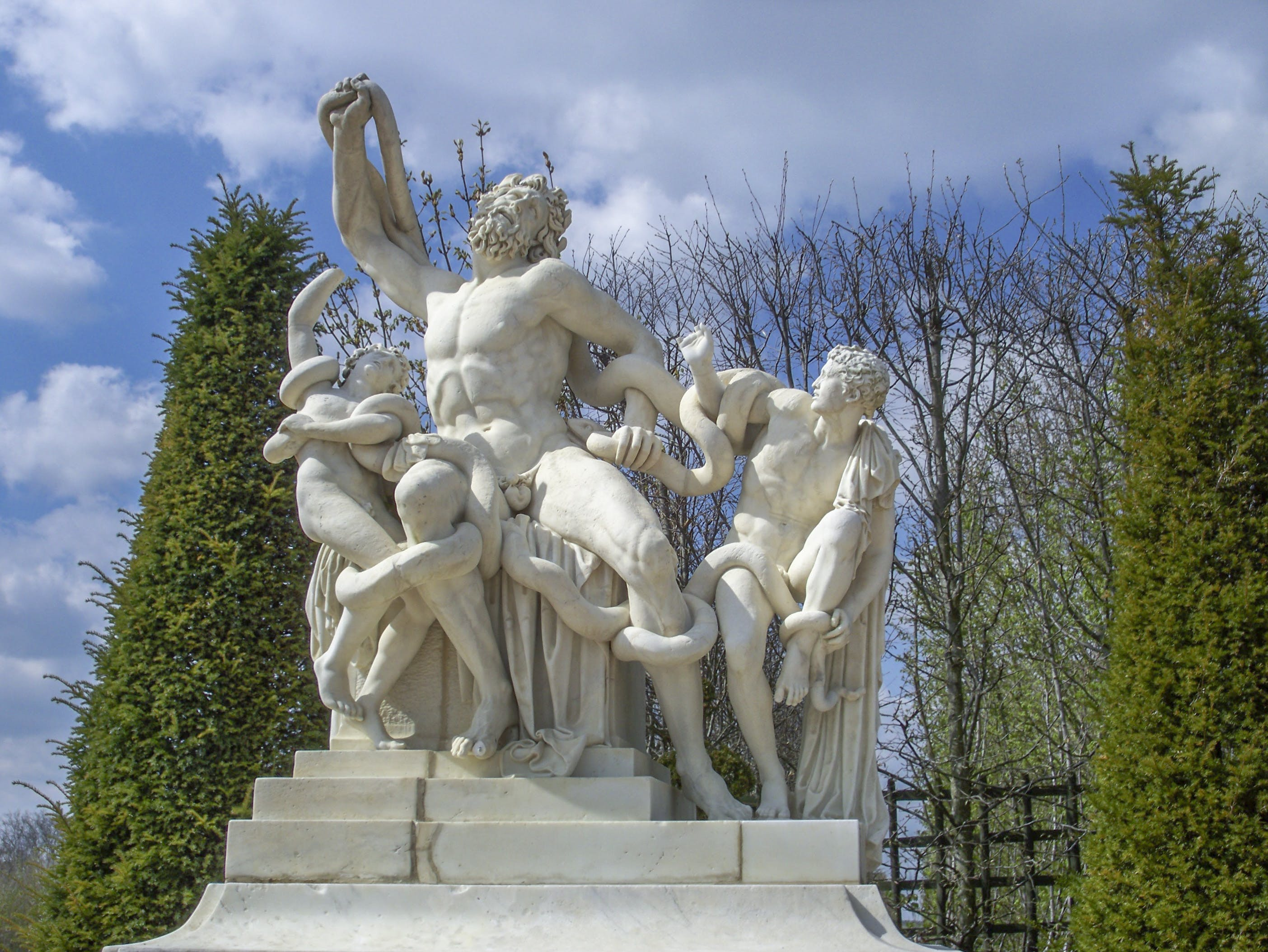 of chateau, statue, Versailles