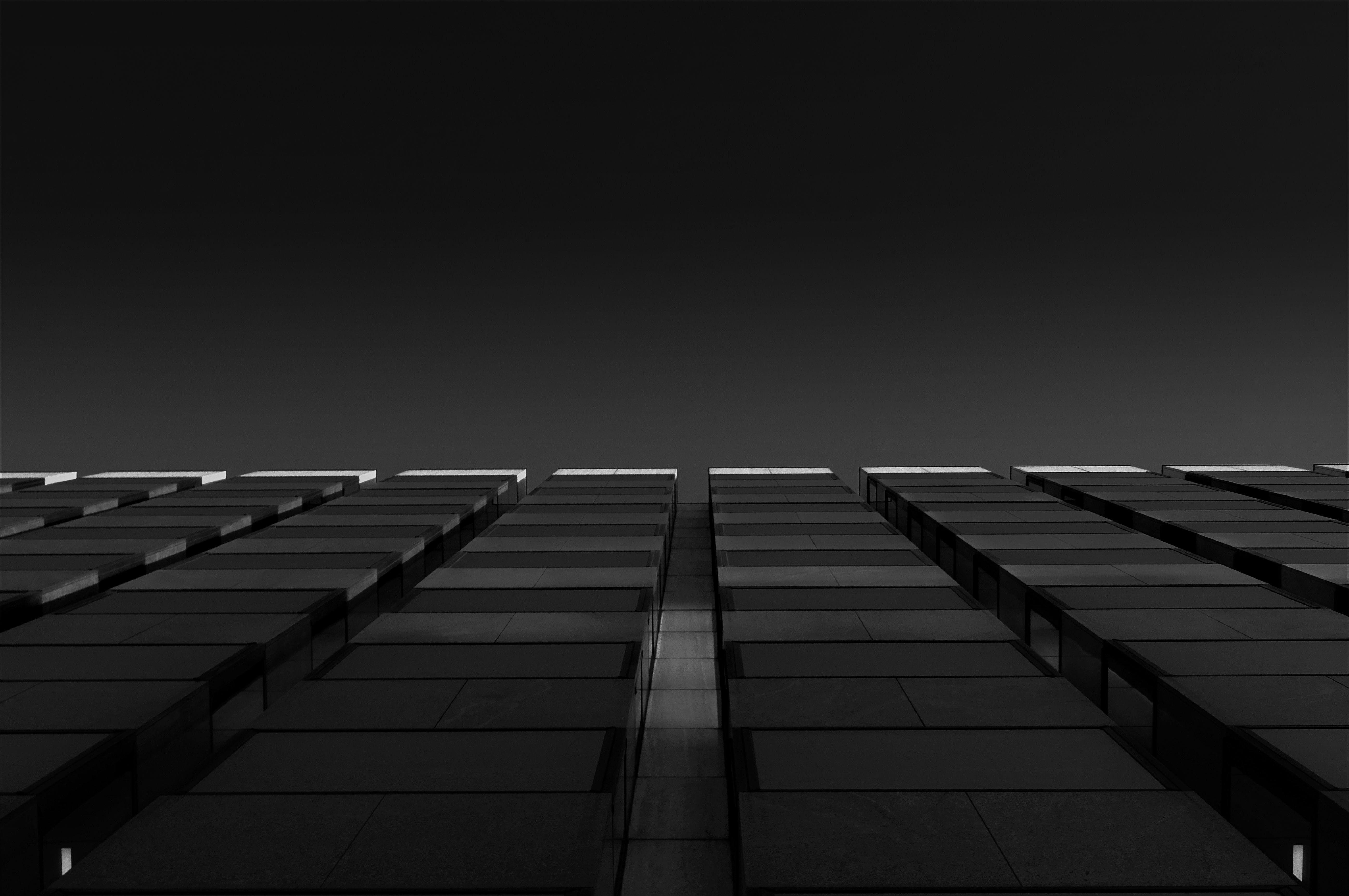 architektur, aufnahme von unten, bürogebäude