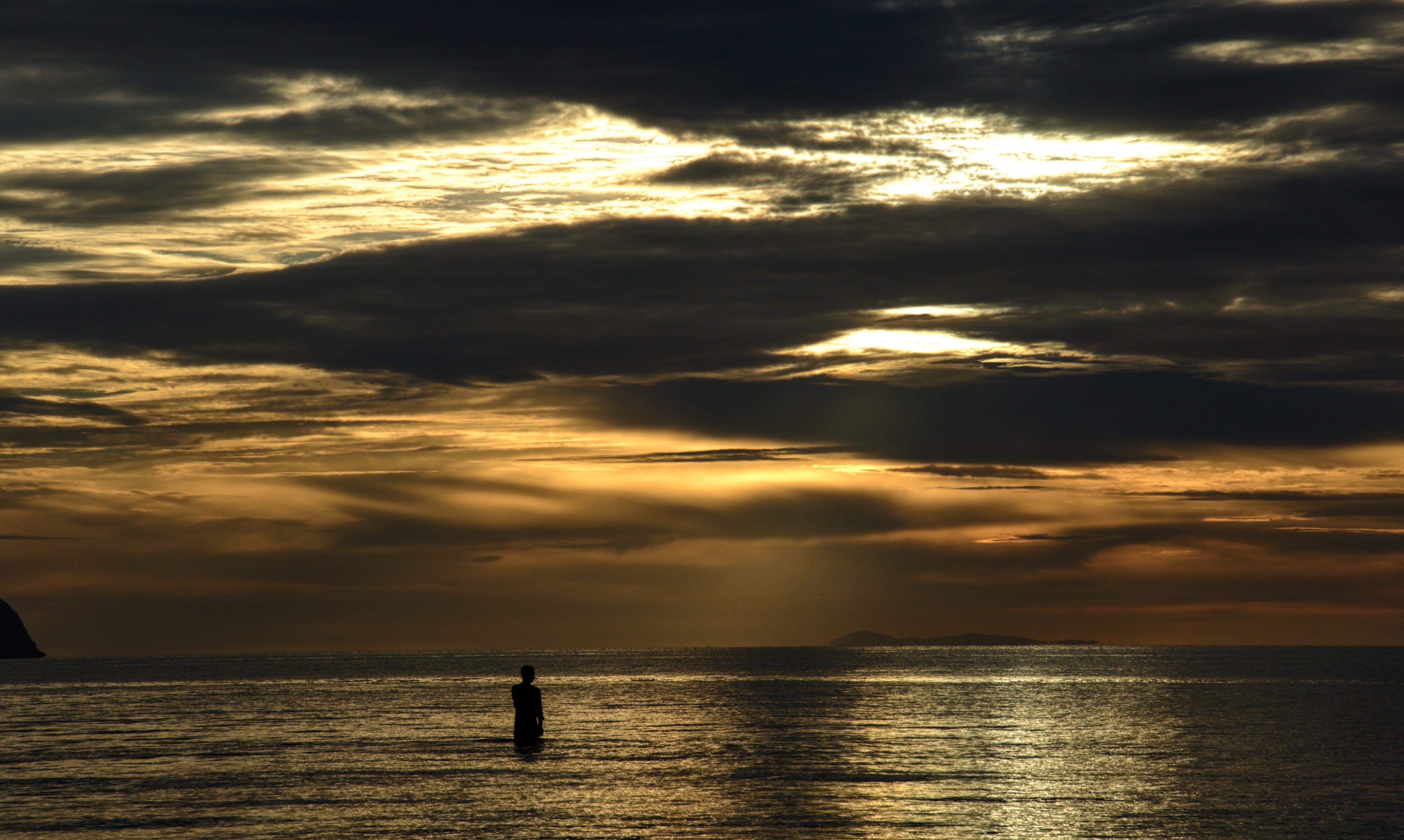 Free stock photo of beach, golden, golden sky, Lightreflection