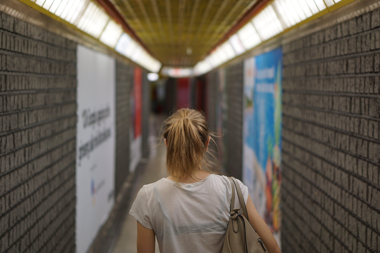 Free stock photo of girl, metro, metropolitan, night