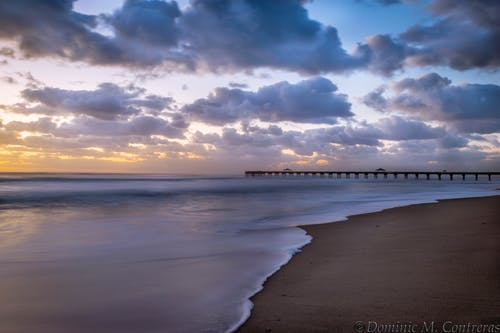 Gratis lagerfoto af anløbsbro, bølger, florida, hav