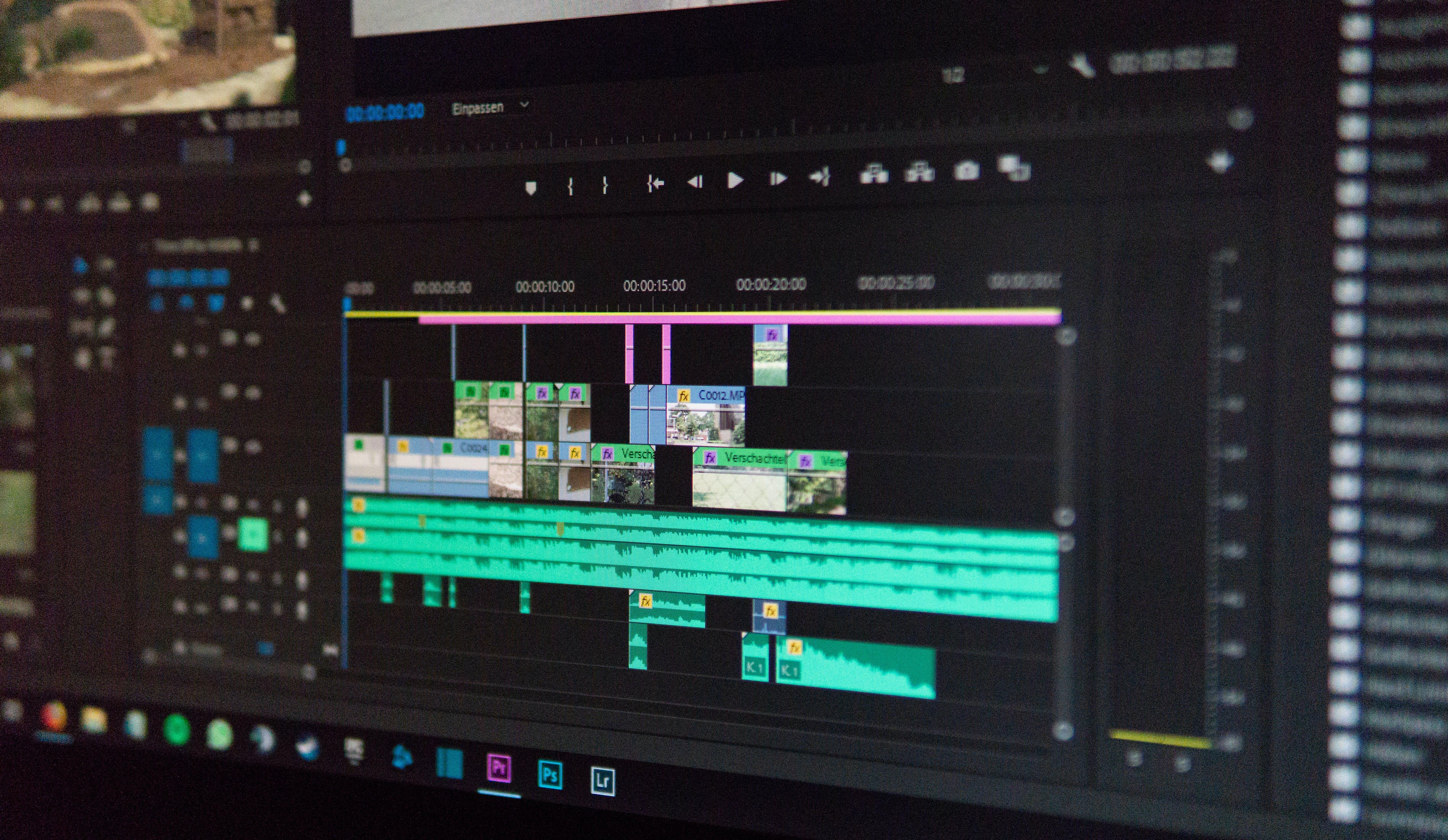 Adobe Premier Application Screengrab