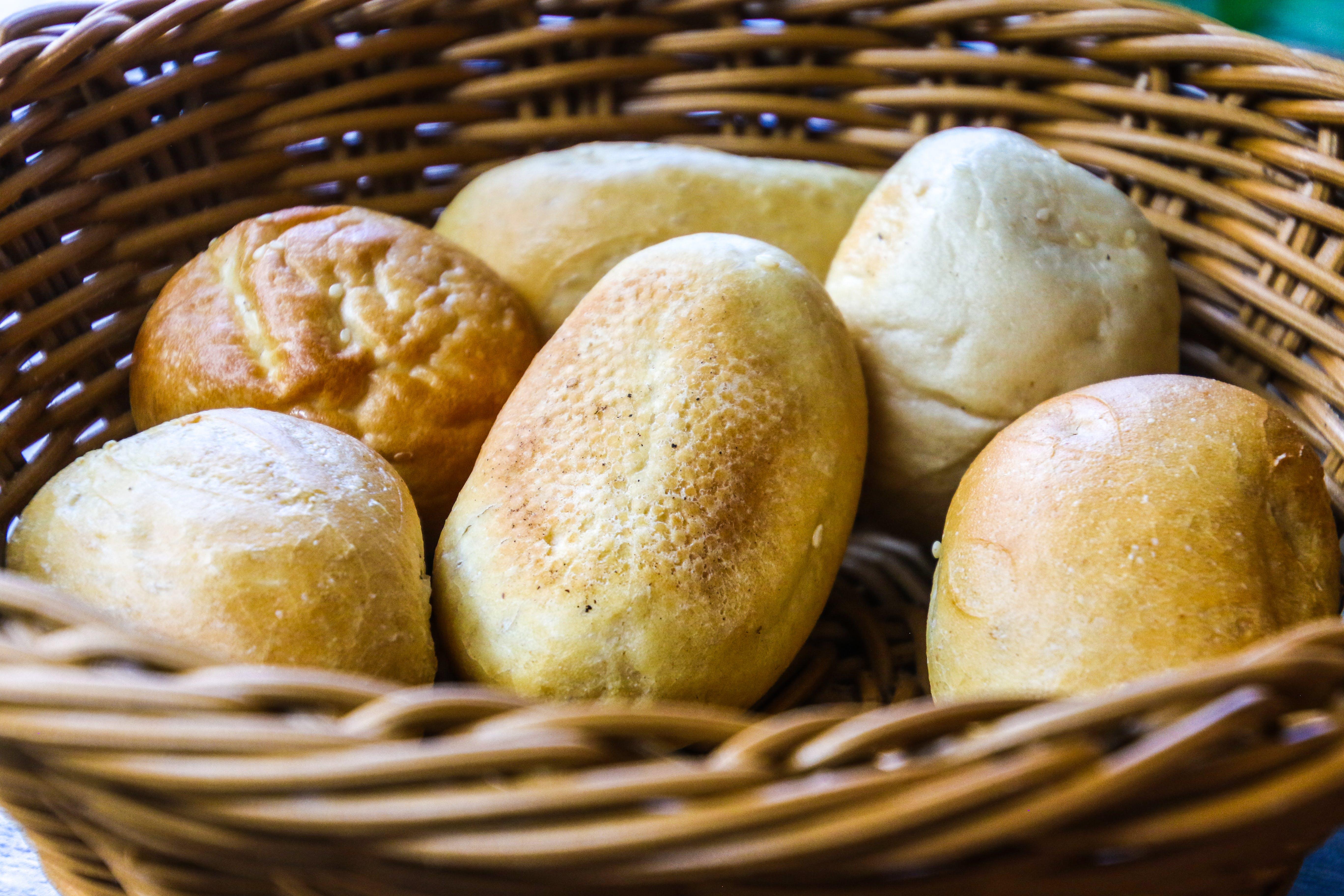 Bread In Brown Wicker Basket