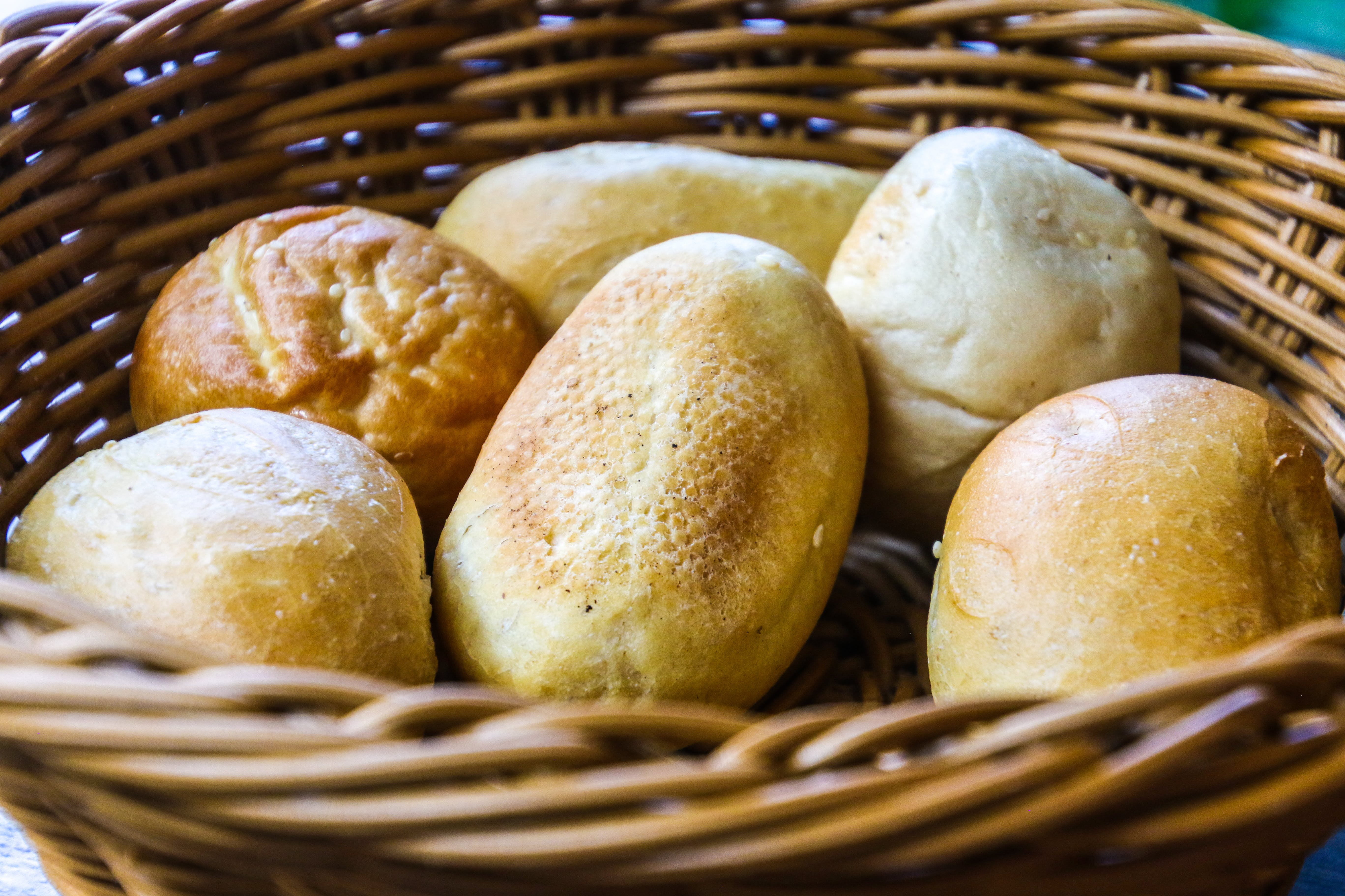 Bread In Brown Wicker Basket