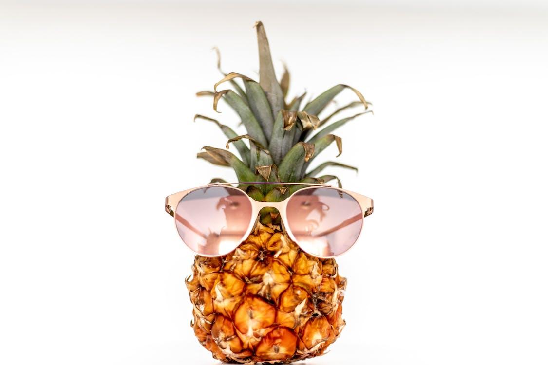 ananas, delikat, farge