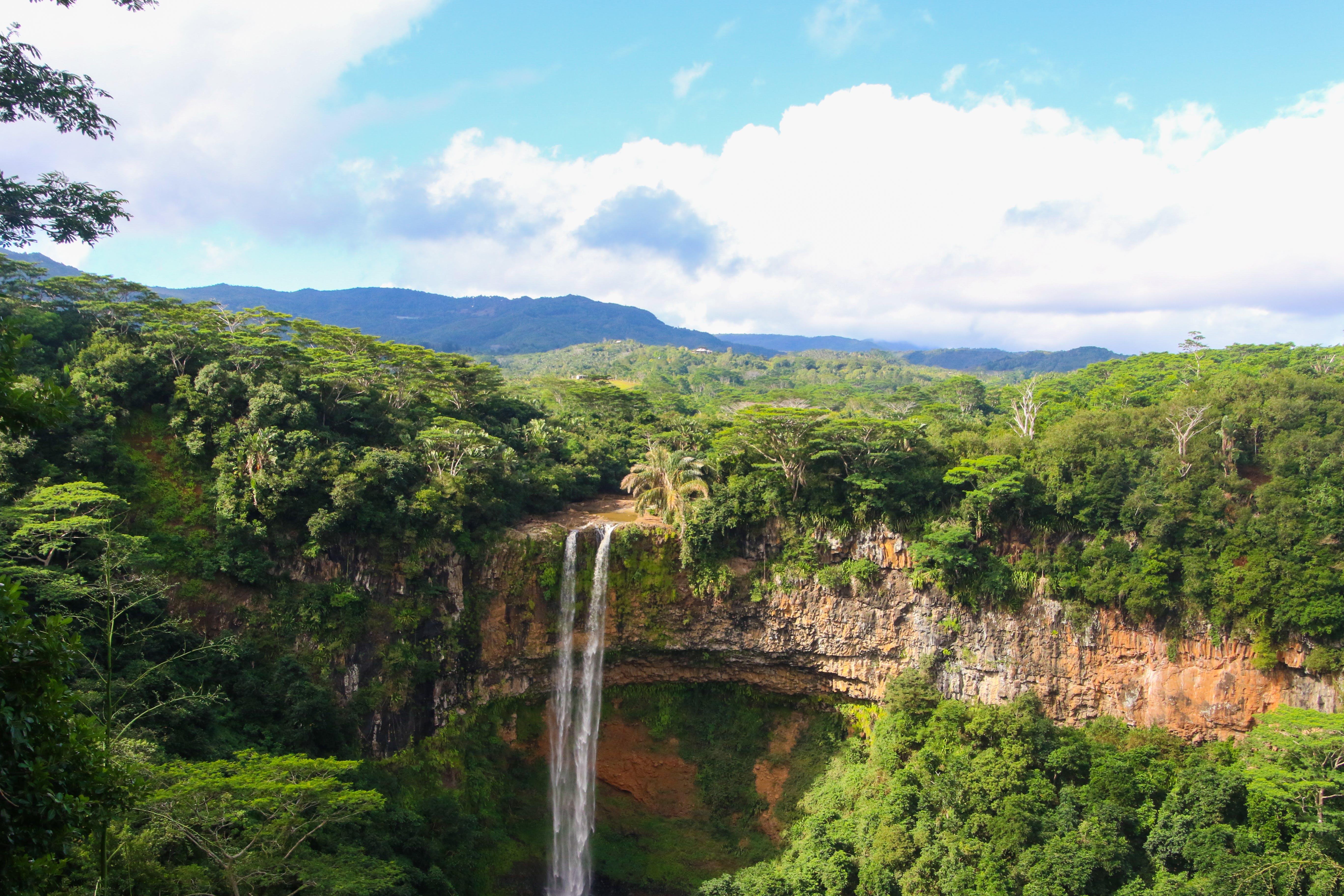 Top View of Water Falls