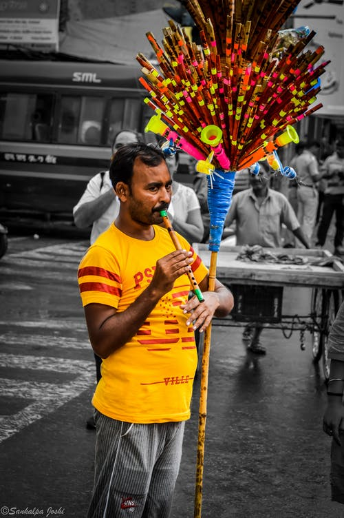 Imagine de stoc gratuită din alb, bărbat indian, bnw, flaut