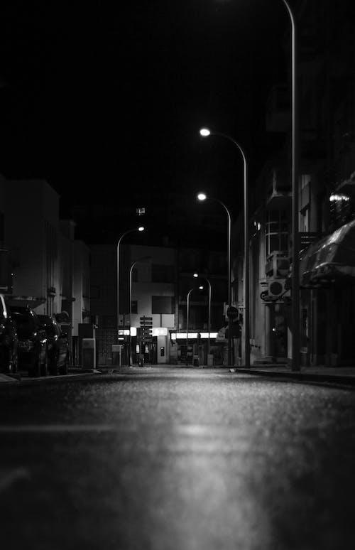 Imagine de stoc gratuită din alb-negru, caldas da rainha, noapte, nocturn