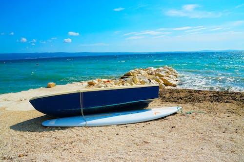Foto d'estoc gratuïta de adriàtic, barca, mar, platja