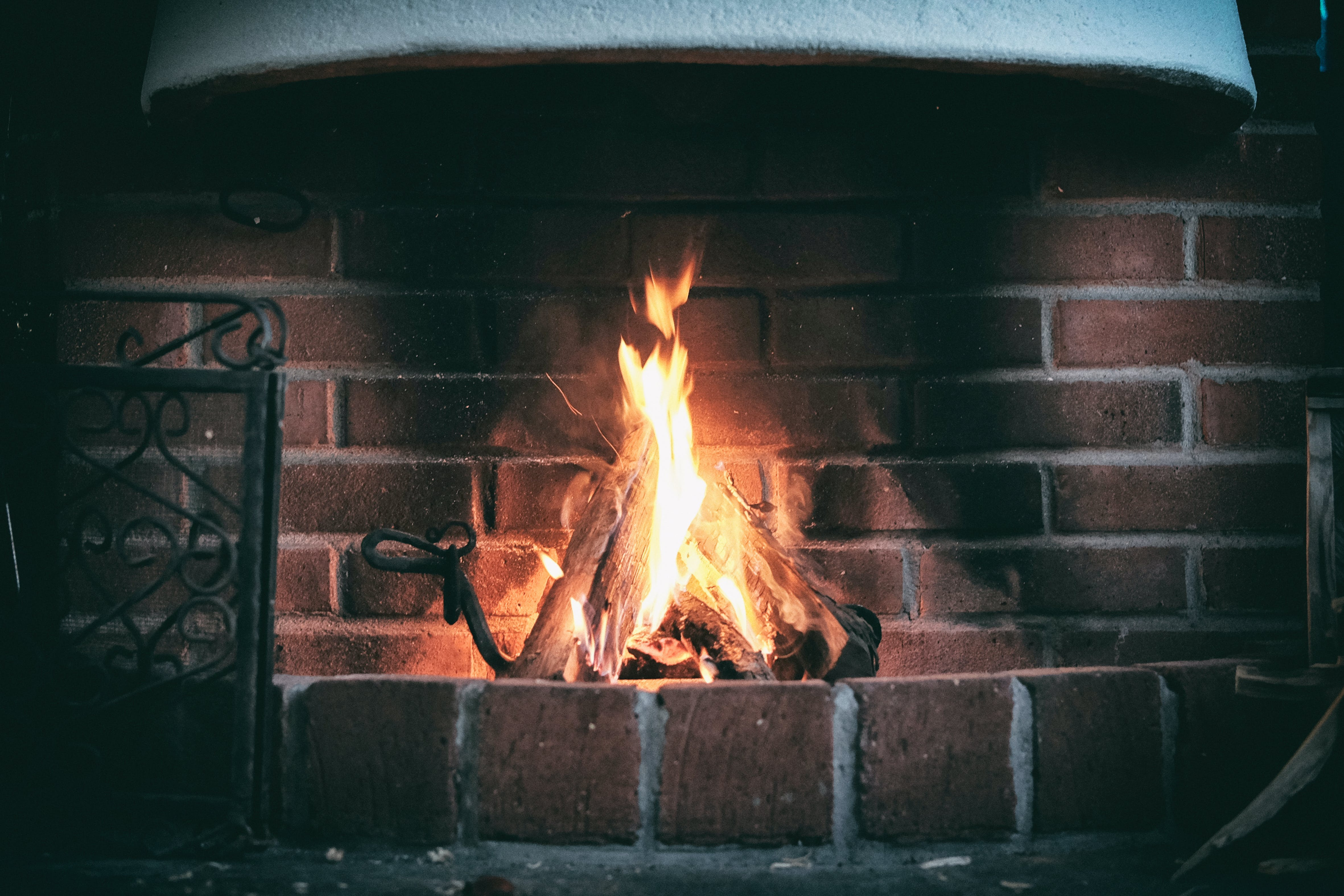 Free stock photo of fire, fireplace