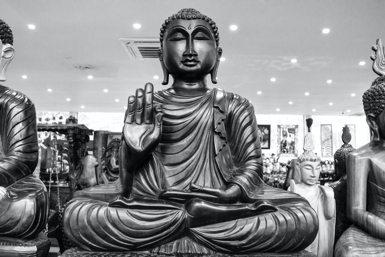 Pace Bianco E Nero foto gratuita di bianco e nero, buddha, pace