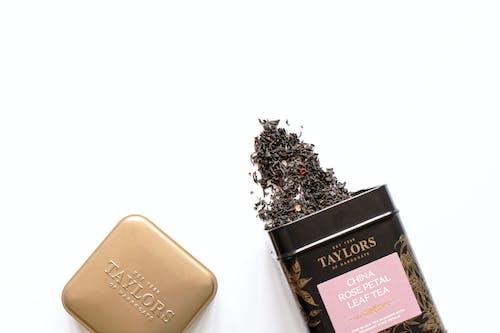 Free stock photo of loose tea, minimal, packaging, still life