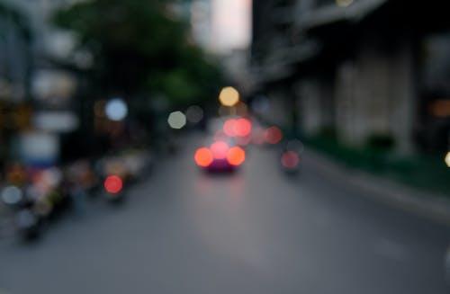akşam, arabalar, Bangkok, bokehballs içeren Ücretsiz stok fotoğraf