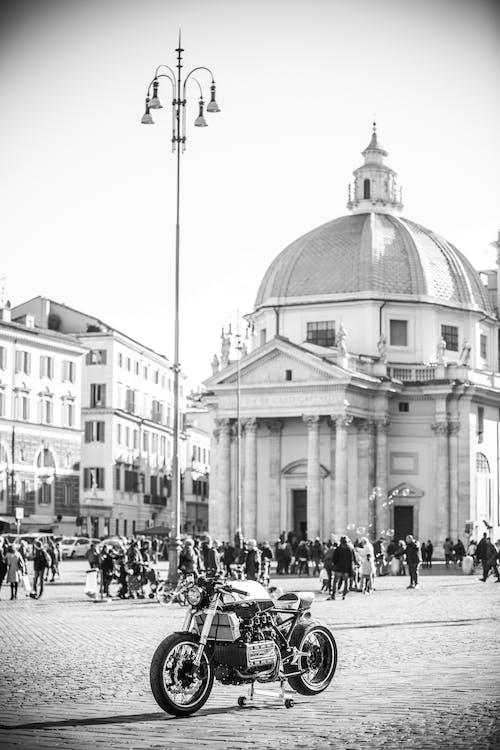 архитектура, байк, город