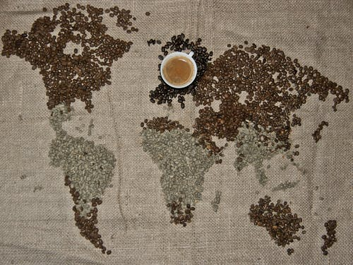 Free stock photo of black coffee, coffee, coffee beans, coffee map