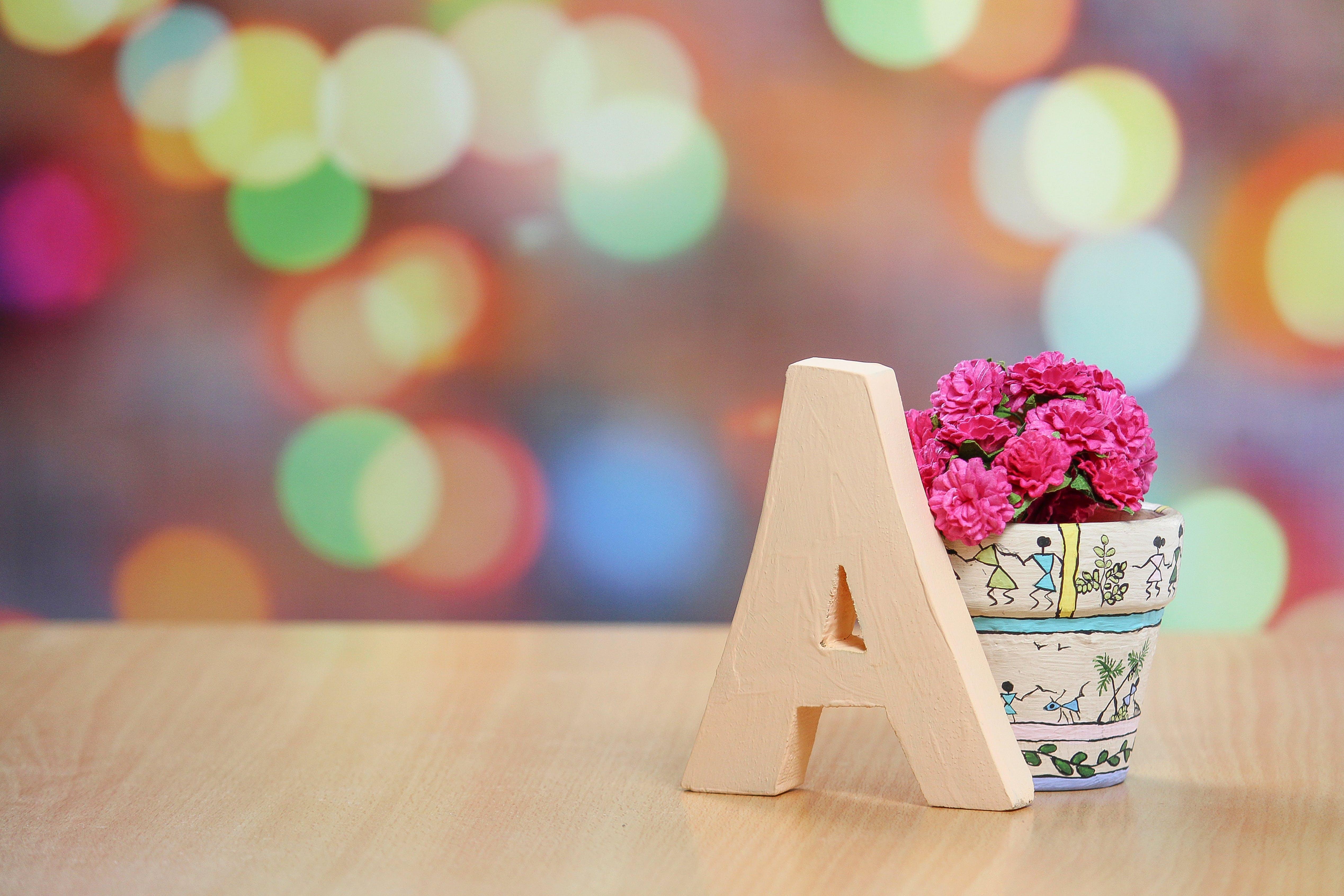 Beige a Freestanding Letter Decor
