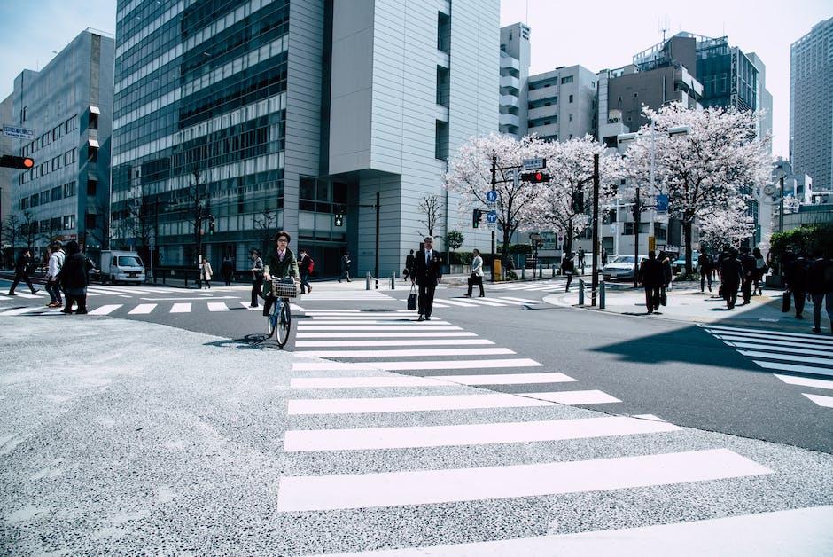 People Crossing Pedestrian Lane